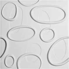 Ekena Millwork WP20X20ABWH-CASE-10 Aberdeen Design Pack of 10 Tiles 26 Sq Ft Decorative 3D Wall Panels White