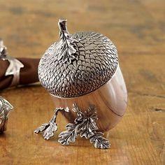 The Happy Heathen: Oaks Acorns at Gumps. Acorns To Oaks, Acorn And Oak, Acorn Crafts, Mighty Oaks, Little Acorns, Oak Leaves, Wooden Art, Pine Cones, Fall Decor