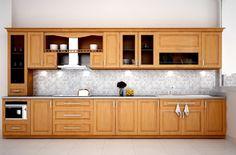 Tủ bếp gỗ xoan đào giá rẻ