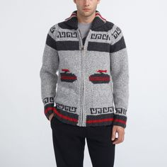 Unisex Mary Maxim Curling Sweater | Roots - Holiday 2015, style 01050333, Charcoal