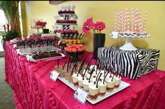 """Photo 6 of 26: Pink/Zebra Theme / Baby Shower/Sip & See """"Hot Pink Zebra Shower"""" 