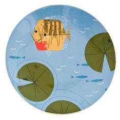 Fish Dish Plate-Oldham + Harper Yellow Fish Coupe