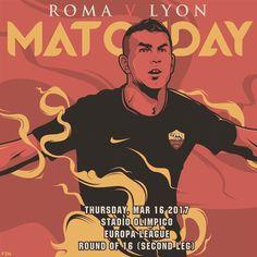 Eccoci... Sale la tensione The excitement is growing‼️ *** Follow @officialasroma on Instagram *** #RomaOL #ASRoma #EuropaLeague #UEL #dajeroma #forzaroma #salah #derossi #fazio #ruediger #manolas #rui #peres #dzeko #salah #nainggolan #Roma #olimpico #matchday #slideshow #graphic #video #clip #football