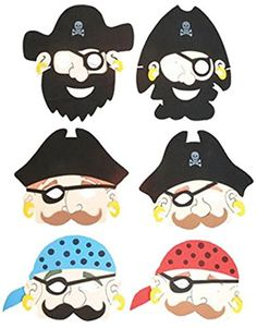 Set of 6 New Halloween Costume Party Foam Pirate Masks -- Want to know more, click on the image.