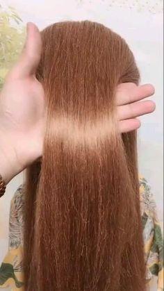 Hairdo For Long Hair, Long Hair Video, Easy Hairstyles For Long Hair, Diy Hairstyles, Front Hair Styles, Medium Hair Styles, Hair Style Vedio, Hair Tutorials For Medium Hair, Hair Upstyles