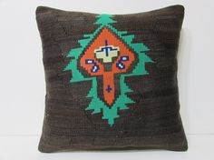 20x20 kilim pillow 20x20 large kilim pillow by DECOLICKILIMPILLOWS