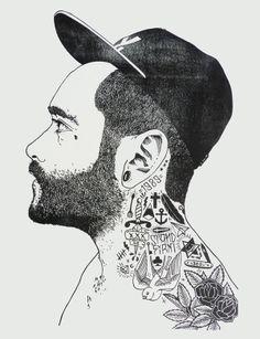 Inspiration for tattoo - Stand Firm Linocut by John C Thurbin, via Behance