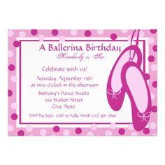 Ballerina Slippers/ Birthday Custom Invites