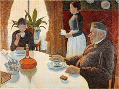 The Dining Room by Paul Signac    I think the man in the painting has had enough breakfasts...!