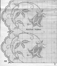 Arzunun Hobileri: Lilyum çiçekli perde modeli ve şemaları...