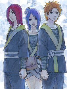 Yahiko, Konan and Nagato:Naruto---Awwww