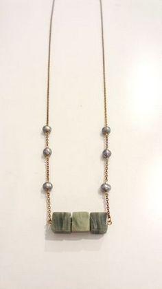 Handmade Gold chain Necklace with semi-precious stones! Gold Chains, Arrow Necklace, Stones, Handmade, Jewelry, Rocks, Hand Made, Jewlery, Bijoux
