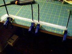 how to make string heddles - 2 versions Also same clamp system used along with stick shuttle to wind fringe
