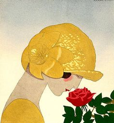 """Items similar to Cross Stitch Pattern Chart on Printable PDF """"Woman with Rose"""" on Etsy French Hat, Ribbon Cards, Digital Illustration, Illustration Fashion, Fashion Illustrations, Fashion Plates, Digital Collage, Altered Art, Vintage Art"""