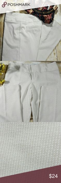 "🆕LISTING💙BEIGE DRESS PANTS (TALLS) EUC beige dress pants with a mild pattern (shown in pic #3).  Wide legs,  double hook closer and zipper, and back slit pockets.   Only worn a couple times but no longer fit me.  These pants have a 34"" inseam!  Looks great with heels,  booties or if your real tall...flats.   Very nice material that will do well during the winter time. Maurices Pants Wide Leg"