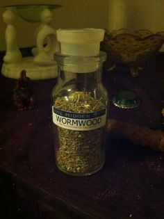 Wormwood: Good for magic involving protection, love, calling spirits, and psychic abilities.    *poisonous