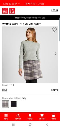 Skirt Images, My Bags, Wool Blend, The Selection, Sequin Skirt, Mini Skirts, Autumn, Color, Women