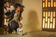 Star Wars This family took advantage of sleep deprivation and cardboard boxes post-move to shoot some famous movie scenes with their child.