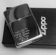 HIGH POLISH CHROME Personalized Zippo Lighter Best