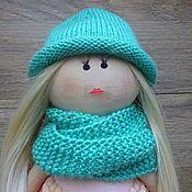Куклы и игрушки ручной работы. Ярмарка Мастеров - ручная работа Шапочка + снуд  (комплект) для кукол. Handmade.
