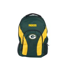 Green Bay Packers Backpack Draftday Style Green and Gold