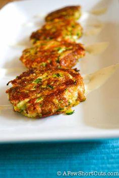 Delicious Summer Appetizer! Cheesy Zucchini Cakes #Recipe