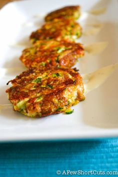 Delicious Summer Appetizer! Cheesy Zucchini Cakes #Recipe