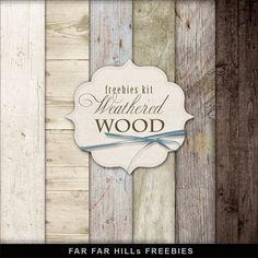 Scrapbooking TammyTags -- TT - Designer - Far Far Hill, TT - Item - Paper, TT - Texture - Wood