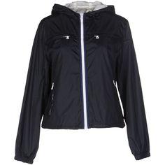 Prada Sport Jacket ($510) ❤ liked on Polyvore featuring outerwear, jackets, dark blue, long sleeve jacket, zipper jacket, multi pocket jacket, zip jacket and prada sport