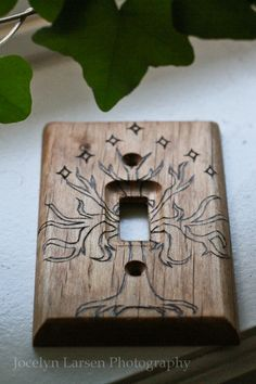 Tree of Gondor woodburned wallplate by TheGypsysSatchel on Etsy, $23.00