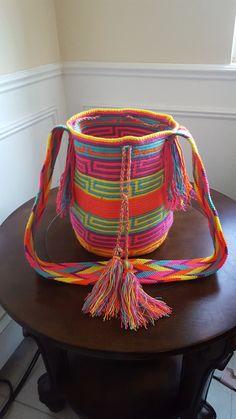 Mochila Wayuu 100% original handmade bag de Colombiayuu en Etsy