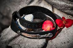 Italian leather bracelet