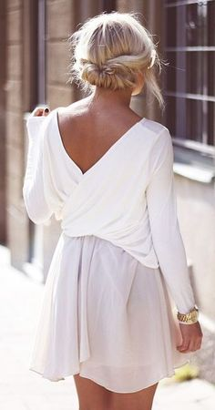 Chic - white summer dress