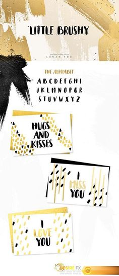 Little Brushy - Hand Painted Font  http://www.desirefx.me/little-brushy-hand-painted-font/