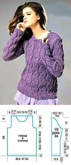 Пуловер с узорами | Искусница