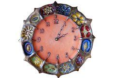 Wheel of Life ceramic Clock - Honeybees Ceramics