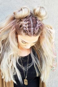 Double Dutch braids are so versatile, so you can wear them every day or for a night out. See our photo gallery of the trendiest braided hairstyles. #braidedhairstylesforschool