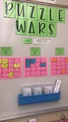 Behavior Management [Puzzle War] PBIS {editable} by Two Teachers In Fifth