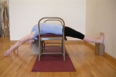 Even if you don't have special yoga chairs, you can do this backbend and banish the rainy-day blues.