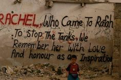 """March Rachel Corrie, Palestine solidarity activist from the U., murdered by Israeli bulldozer while defending a Palestinian home in Gaza.""""Rachel, who came to Rafah to stop the tanks, we. Female Hysteria, I Sent You, We Remember, Love You, My Love, Women In History, Oppression, Words, Pictures"""