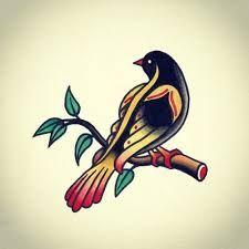 Image result for bird tattoo old school man