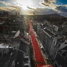 Sarajevo, memory on 11541 person  killed in war 1992.