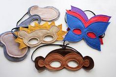 felt masks,I love the monkey on for OCC shoe boxes.