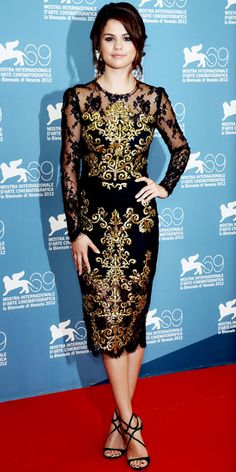 Selena Gomez Dolce & Gabbana lace dress