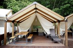 Ocean world glamping tent
