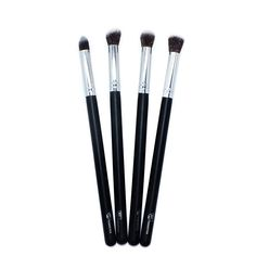 Silver 4 Pieces Face Synthetic Brush Set