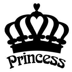 Princess Crown Die Cut Vinyl Decal for Windows, Vehicle Windows, Vehicle Body Surfaces or just about any surface that is smooth and clean Silhouette Projects, Silhouette Design, Crown Silhouette, Princess Silhouette, Silhouette Cutter, Cricut Vinyl, Vinyl Decals, Window Decals, Car Decals