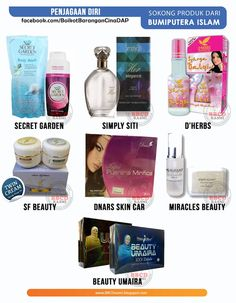 SOKONG 1. Secret Garden 2. D'Herbs 3. Simply Siti 4. Beauty Umaira 5. SF beauty 6. Dnars Skin Care 7. Walit Set 8. Miracles Beauty