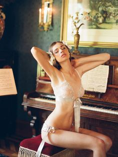Claire Pettibone Heirloom Lingerie Collection. Photographed by Elizabeth Messina.