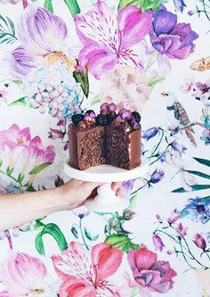 Chocolate & nutella vertical cake